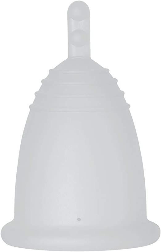 MeLuna Classic Copa Menstrual, Palito, Transparente, Talla M - 1 Unidad