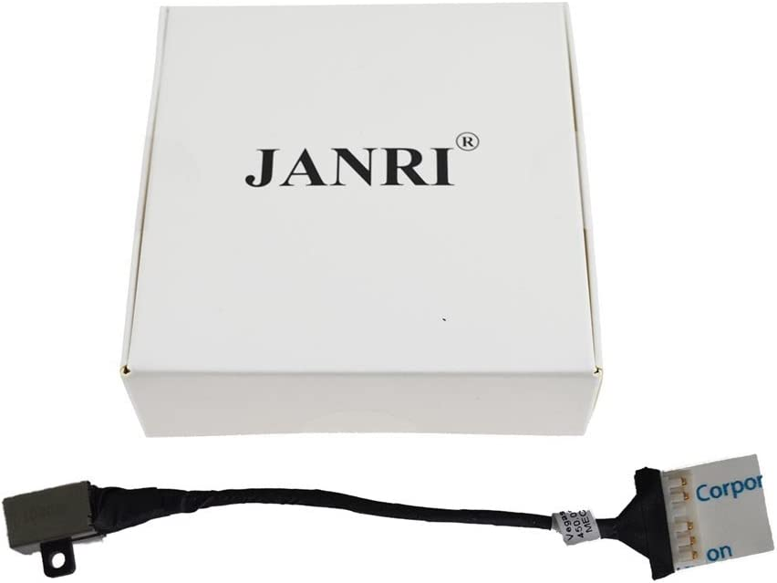 JANRI Replacement FWGMM 0FWGMM 450.09W05.0001 Power Jack Port Socket Harness Connector Charging Plug Vegas 14 DC in Cable for Dell Inspiron 15 3567 i3567-5185BLK-PUS i3567-3919BLK i3567-5664BLK-PUS