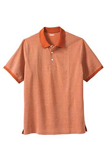 KingSize Men's Big & Tall Pique Polo Shirt, Dark Orange Birdseye ()