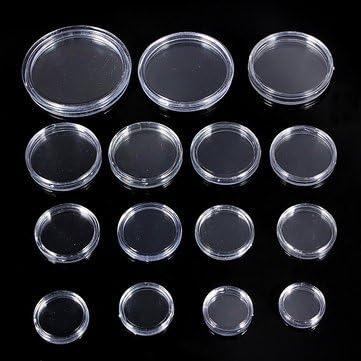 Soporte para cápsulas de monedas – 10 unidades de 18 mm a 50 mm en caja para monedas – 45 mm (cápsulas de plástico para monedas): Amazon.com.mx: Herramientas y Mejoras del Hogar
