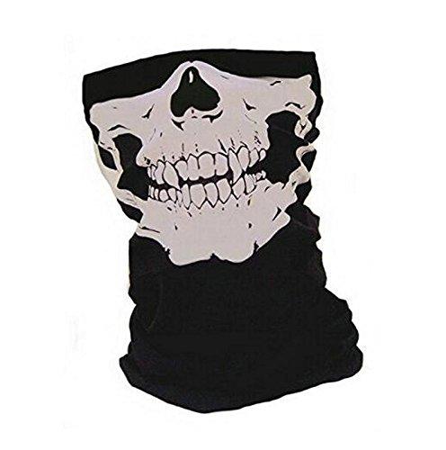Cdet Mascara facial bicicleta esquí cráneo media máscara máscara fantasma bufanda multi uso cuello calentador: Amazon.es: Hogar