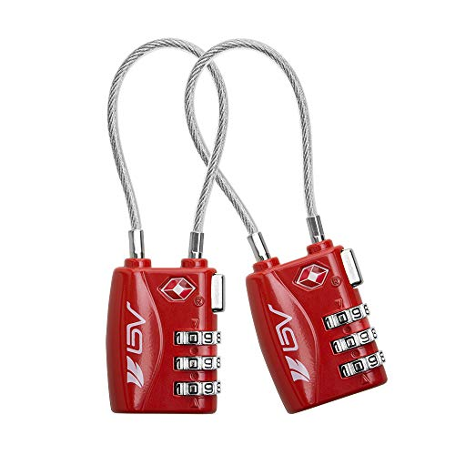 - TSA Approved Luggage Travel Lock 2 Pack, Set-Your-Own Combination Lock for School Gym Locker,Luggage Suitcase Baggage Locks,Filing Cabinets,Toolbox,Case