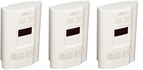 Kidde KN-COEG-3 Nighthawk Plug-In Carbon Monoxide and Explosive Gas Alarm with Battery Backup (Pack of 3)