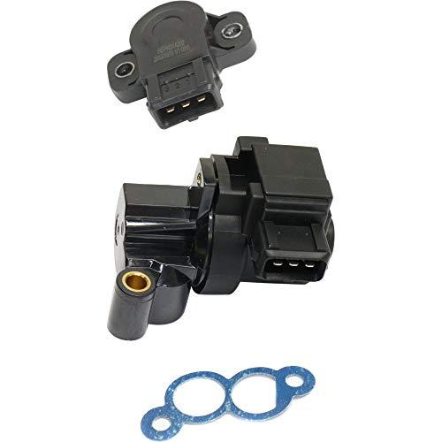 Throttle Position Sensor for Hyundai Sonata 00-04 / Sportage 05-10 Set of 2 With Idle Control Valve ()