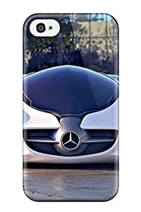High Impact Dirt/shock Proof Case Cover For Iphone 4/4s (mercedes Benz Biome Concept)