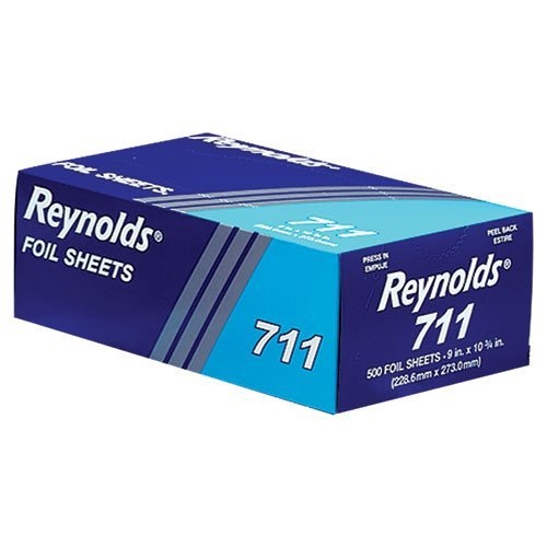 - Pop-Up Interfolded Aluminum Foil Sheets in Silver, 500/Box