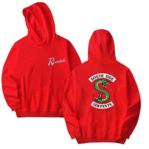 4xl Homme Pull Sweater Imprimé Motif Capuche Sportswear Regular 2 3d Manches South Side Avec Serpents De Oliphee Longues Unisexe 2xl Brouge Taille qHEdxE