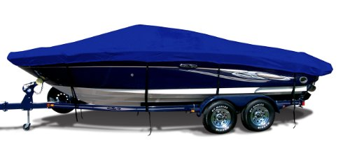 Royal Blue Tweed Exact Fit Boat Cover Fitting 1996-1998 Baja Islander 272 Bowrider I/O Models, 9.25 oz. Sunbrella Acrylic