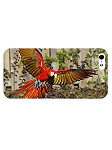 3d Full Wrap Case for iPhone 5/5s Animal Flying Macaw