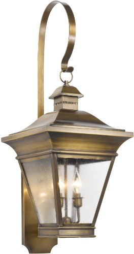 Elk 5237-ORB 12-1/2 by 35-Inch Reynolds 3-Light Outdoor Wall Lantern, Oiled Rubbed Brass - Light Inch 35 Wall Outdoor