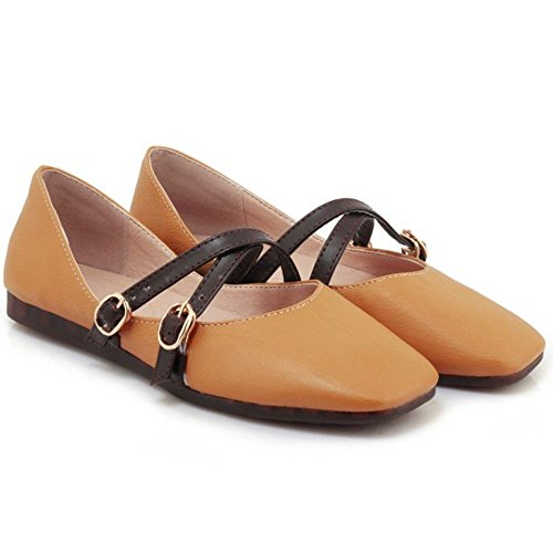 RAZAMAZA 41 Yellow Zapatos Para Mujer Ballerina SXwISqxgr