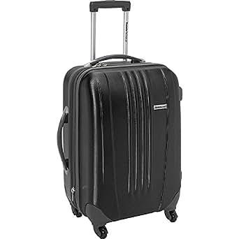 Traveler's Choice Toronto 21 in. Expandable Hardside Spinner Luggage (Black)