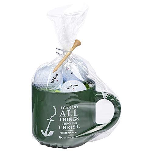 Anchored in Christ Green 5 Piece Ceramic Mug, Golf Ball, Tee Gift Set