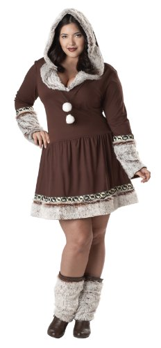 California Costumes Women's Plus-Size Eskimo Kisses Plus, Brown/White, 3X