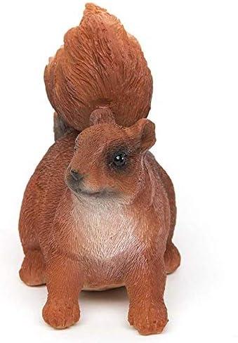 ZEYOU Mini Squirrel Figurine,Resin Simulation Squirrel Statue Decorations Home Decor Lawn Patio Yard Ornament