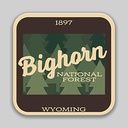Bighorn Wyoming - JMM Industries Bighorn National Forest Wyoming Vinyl Decal Sticker Car Window Bumper 2-Pack 4-Inches 4-Inches Premium Quality UV-Protective Laminate PDS1364