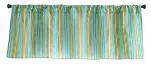 Owlphabet Sage Cotton Blend Curtain Valance