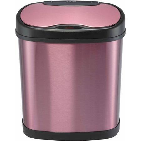 Purple Motion Sensor Trash Can 3.2 Gallon College Dorm Bathroom Bedroom Waste Basket by Nine Star