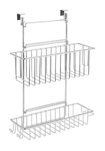 WENKO 8181100 Küchenschrank Einhängregal - mit 2 Ablagen  , verchromtes Metall, 32 x 47 x 12.5 cm, Chrom