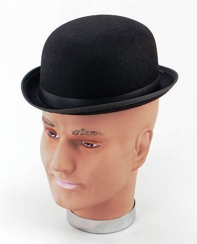 Black Bowler Hat (Small) Charlie Chaplin Male Fancy Dress Accessory  Superior - Buy Online in Oman.  6bb4a5634e6