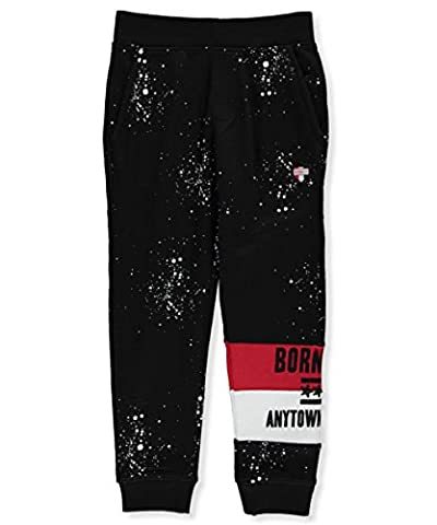 Born Fly Big Boys' Joggers - black, 8 (Born Fly Clothing For Boys)