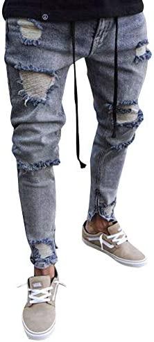 メンズ ストレート ジーンズ 綿パンツ ストレッチ スキニー 伸縮性 デニム ダメージパンツ 美脚 スリム 細身バイカーパンツ