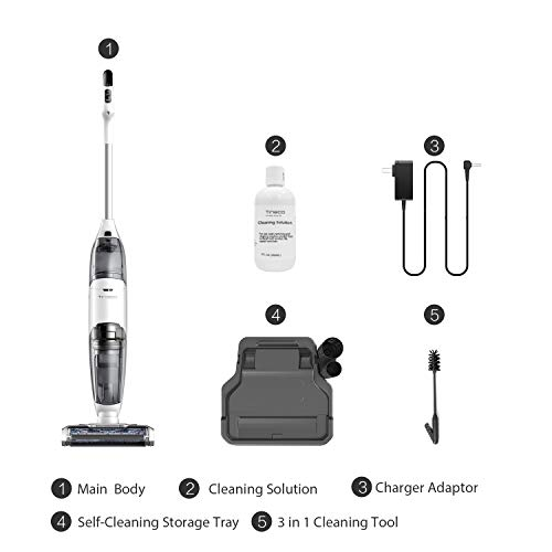 Tineco iFloor Cordless Wet Dry Vacuum Cleaner Powerful and Lightweight Hard Floor Washer with Self-Cleaning Brush by Tineco (Image #5)