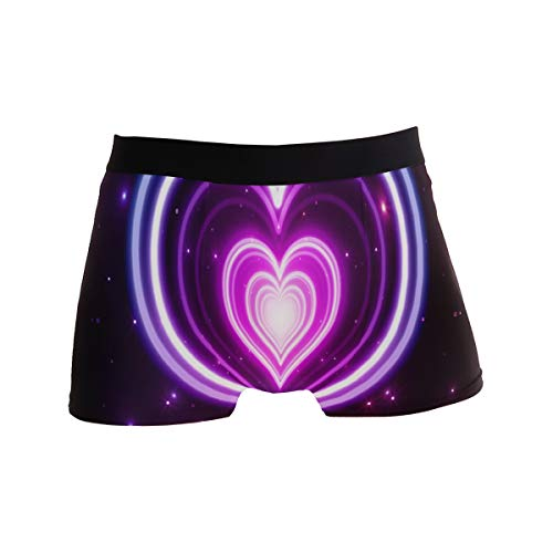 Mens Boxer Briefs HD Neon Love Wallpaper Soft Bikini Underpants Trunks Underwear for Men Boys