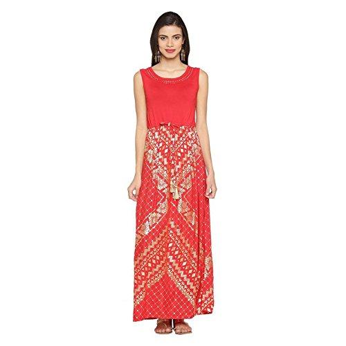 49217b46a15 Akkriti by Pantaloons Women s A-Line Kurta (110031170001 Red XS)