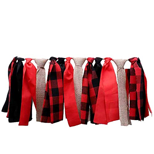Lumberjack High-Chair Banner Party Supplies Timber Buffalo Plaid 1st Baby Boy First Birthday Woodland Baby Shower Party Banners Supplies Photo Booth Backdrop Props Decorations