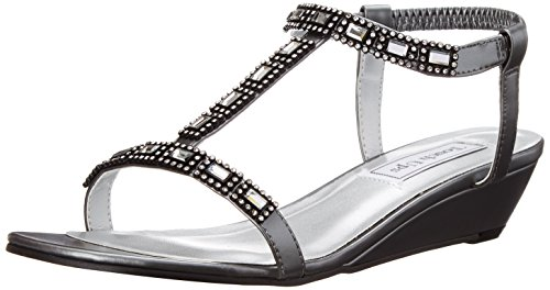 (Touch Ups Women's Jazz Wedge Sandal, Pewter, 8.5 M US)