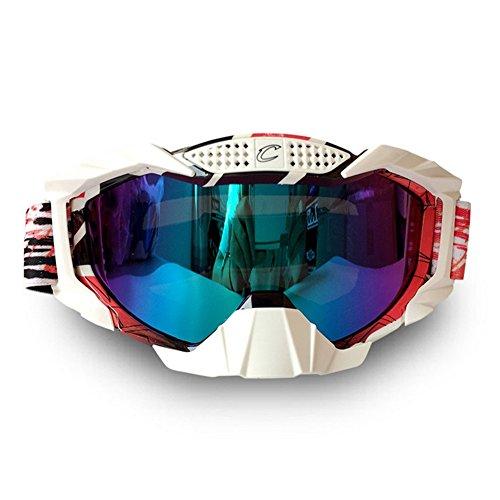 765beee1685a Wonzone Windproof Dustproof Motorcycle Cross country Sunglasses Snowboard  Ski Goggles Adjustable UV Protective Outdoor Glasses Anti-fog Eyewear  Combat ...