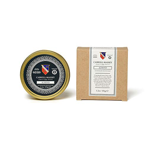 Caswell-Massey Almond Shave Soap - All Natural Soothing Shaving Soap With Almond and Coconut Oil - Made In USA - 5.2 Ounces