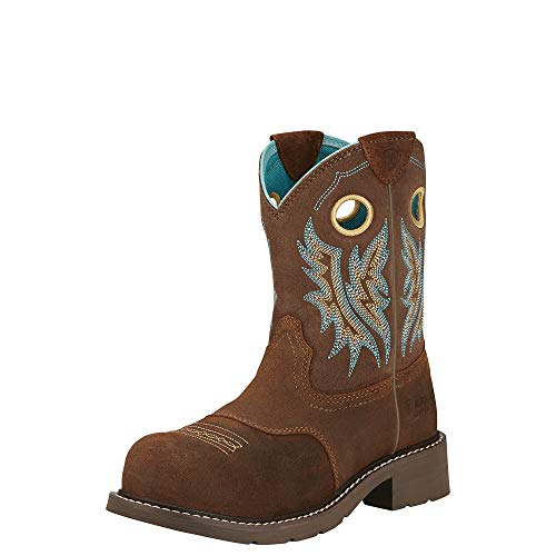 Ariat Women's Fatbaby Cowgirl Composite Toe Work Boot, Fireside/Tan, 9 M US