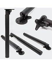 Tafelpoot set van 4 zwarte meubelpoten in hoogte verstelbaar 70-110 cm