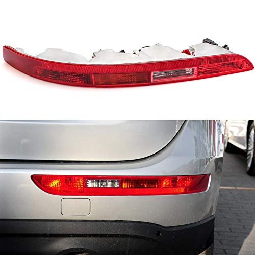 Clidr Rear Bumper Reflector Left/Right Side Tail Light Lower Tail Lamp Stop Brake Light for Audi Q5 2.0T 2009-2015 (Passenger side right)