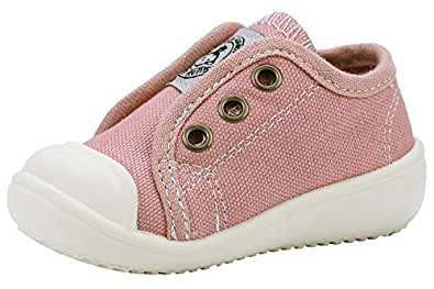 GZTEESER Boy's and Girl's Slip-on Canvas Sneakers Casual Walking Shoes Pink Size: 3.5 Toddler