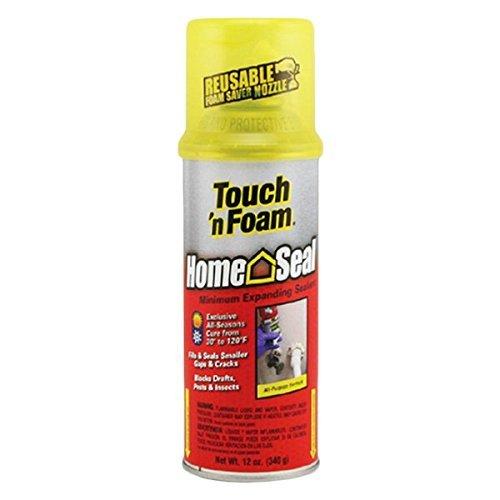 TOUCH `N FOAM 4001012412 Home Seal Minimum Expanding Foam, 12 OZ, Light Brown