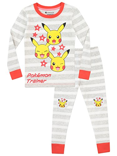 Pokémon Girls' Pikachu Pajamas Size 7 Multicolored -