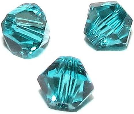 TCC Sourcing 5328 - Juego de 72 Cuentas de Cristal de Swarovski (4 mm, circonitas Azules)