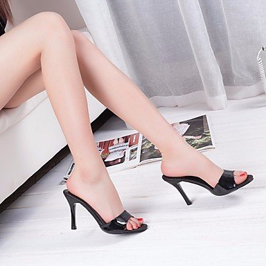 Negro mujer club Casual 5 Blanco de primavera Fucsia UK5 zapatos 5 tacón de para EU38 CN38 sintética US7 rtry RP0qtw