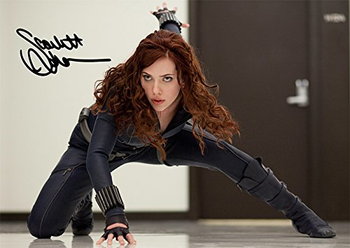 "Black Widow Scarlett Johansson Iron Man 2 Movie Print - Scarlett Johansson (11.7"" X 8.3"")"