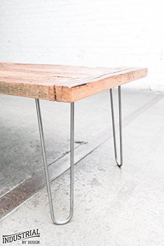 Industrial By Design - 12 Hairpin Legs (Raw Steel) - Industrial Strength - Mid Century Modern - Set of 4, Great for Table Legs