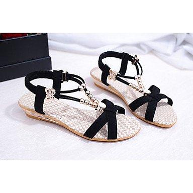 LvYuan Tacón Cuña-Confort-Sandalias-Vestido Informal-PU-Negro Gris gray