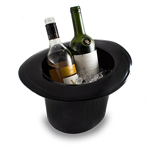 (Jeray Top Hat Ice Bucket Black Acrylic - Vintage Top Hat Wine And Champagne Cooler)