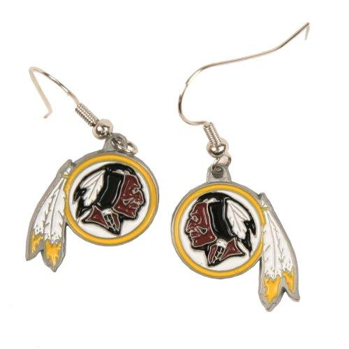 (Washington Redskins Dangle Earrings)