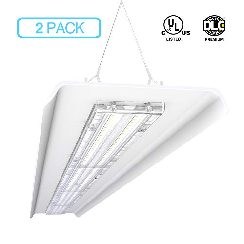 Hyperlite 240W 4FT Linear LED High Bay Shop Light 33,600lm[1000W Fluorescent Equiv.] 5000K 1-10V Dimmable UL/DLC Approved IP60 Meanwell Driver 2-Pack