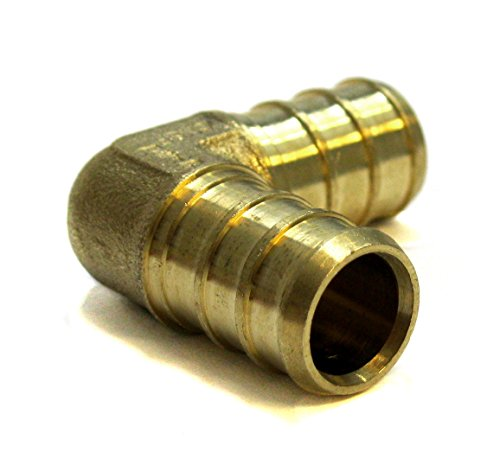 3/4 inch Pex Elbow 3/4'' 3/4'' (pack of 8) Brass Crimp Fitting / Fittings (PEX-E-3434) by VIVO