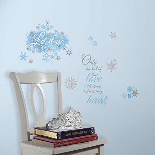 RoomMates Frozen Let it Go Peel and Stick Wall Decals