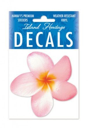 Pink Plumeria Small Decal Sticker